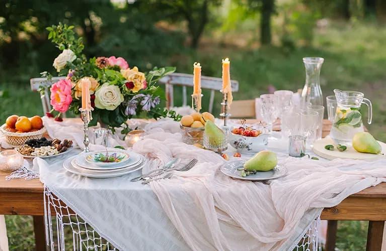 Tisch für Grillparty