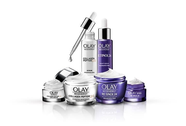 Die neue Olay Collagen Peptide24-Kollektion.