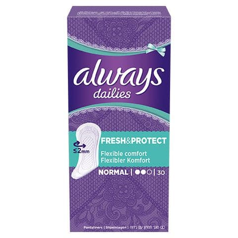 Always dailies fresh and protect normal