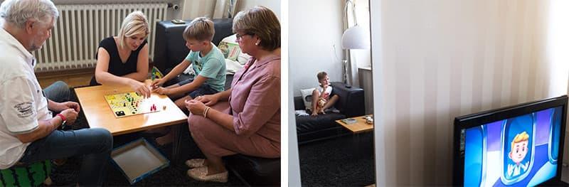 Zu Besuch bei der Familie Julia und Titus Thielker.