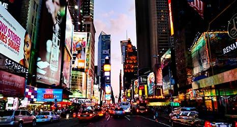 La ciudad que nunca duerme, ¡Nueva York!