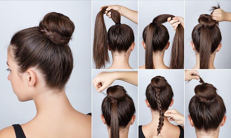The bun with braid