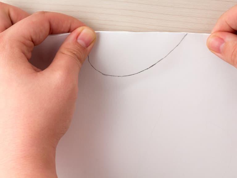 Het papier is gevouwen.
