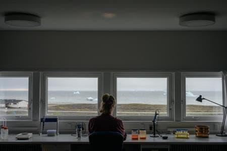 Martin Nielsen onderzoekt zoöplanktonmonsters in het laboratorium van Arctic Station. Dit is een belangrijke voedingsbron, maar het veranderende klimaat verstoort mogelijk hun spreidingspatronen.