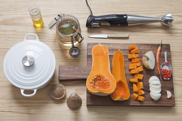 Tous les ingrédients & ustensiles pour réussir vos soupes au potiron