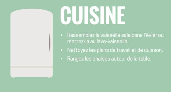 Cuisine : Rassemblez la vaisselle sale dans l
