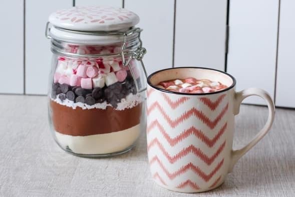 Chocolat chaud en bocal