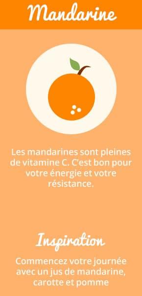Les mandarines sont pleines de vitamine C. C