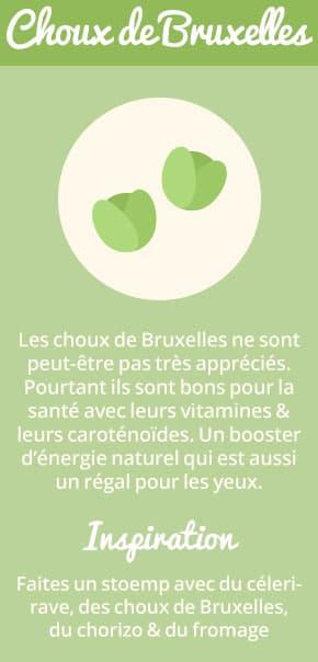 Les choux de Bruxelles ne sont peut-être pas très appréciés. Pourtant ils sont bons pour la santé avec leurs vitamines et leurs caroténoïdes. Un booster d