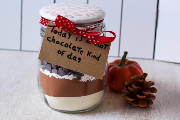Label je chocolademelk jar