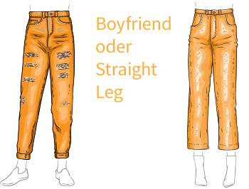 Hosenformen für dicke Oberschenkel und Waden