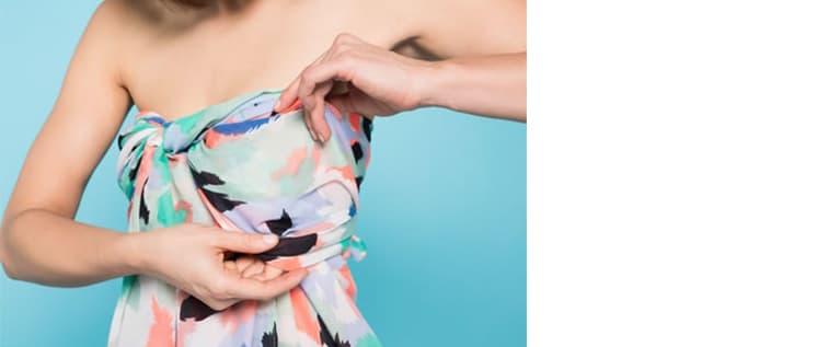 Frau mit Kleid