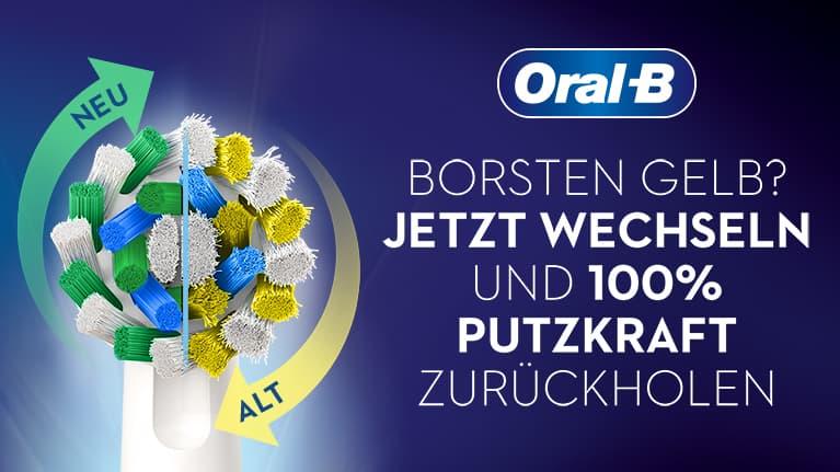 Oral-B Wechselwochen: Jetzt Oral-B Aufsteckbürste austauschen und Rabatt sichern.
