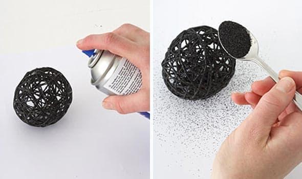 como fazer bolas natal