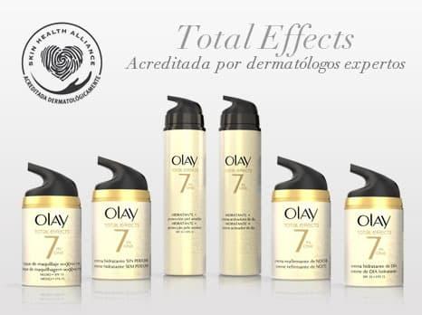 Olay Total Effects acreditada por los dermatólogos