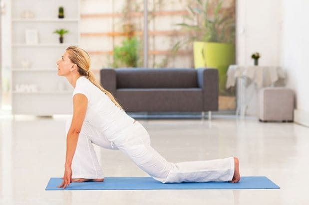 Posture de yoga pour débutant