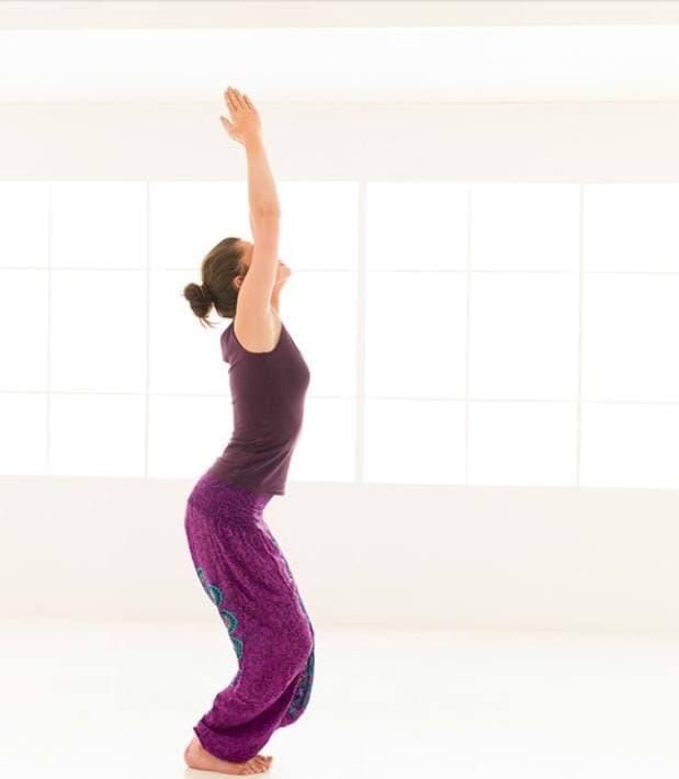 Position de yoga à faire à la maison