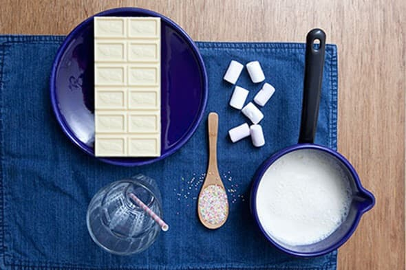 Chocolat chaud blanc