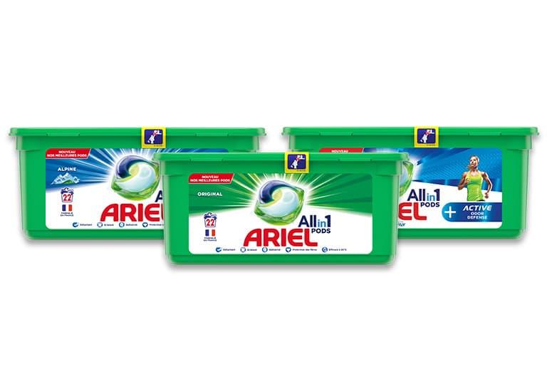 Découvrez les Pods Ariel Allin1