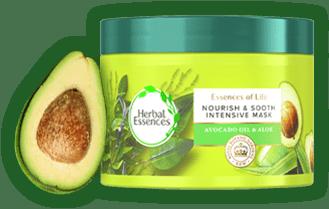 Μάσκα Μαλλιών Herbal Essences με Αλόη & Έλαιο Αβοκάντο
