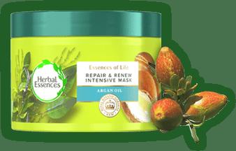 Μάσκα Αναδόμησης Μαλλιών Herbal Essences με Έλαιο Argan