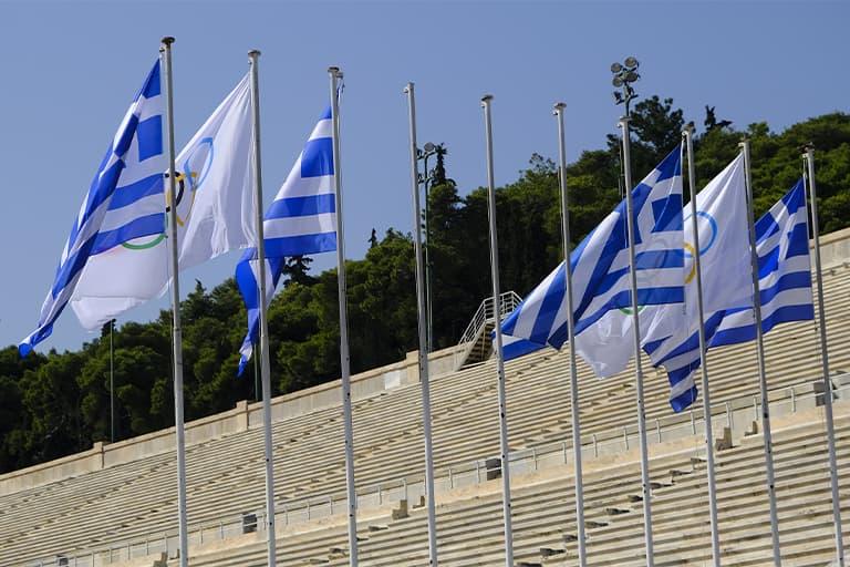 Ελληνική και Ολυμπιακή Σημαία