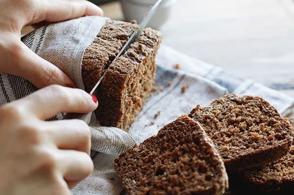 Foto van een roggebrood