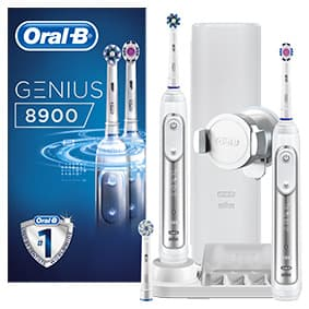 Szczoteczka elektryczna Oral-B Genius 8900 White x 2