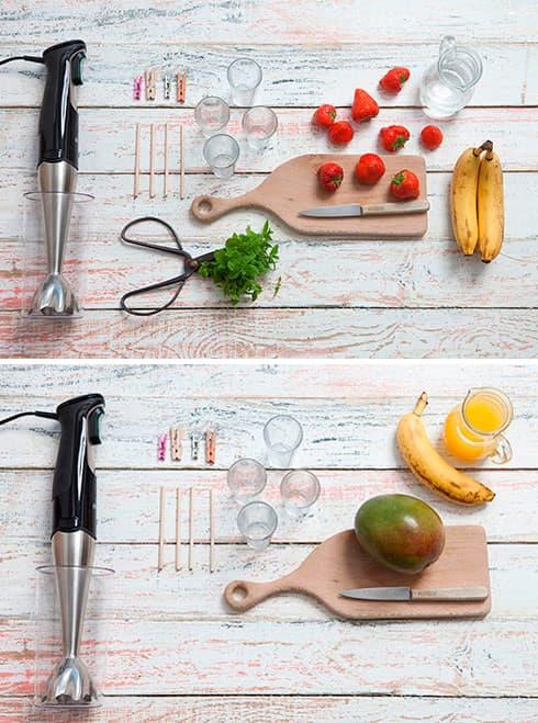 Ingredientes e material que precisa