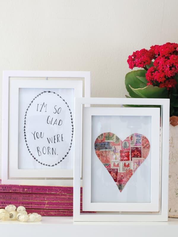 Quadros-postais cheios de amor