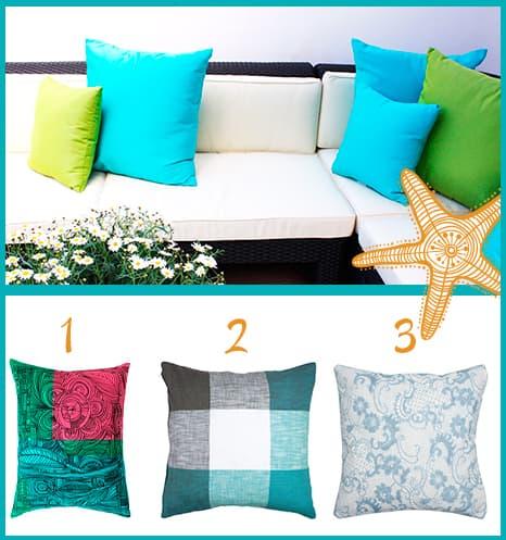 Têxteis de cores marinhas