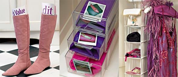 Organize e otimize o seu armário