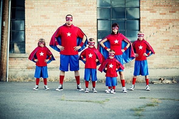 Disfarce família de Super-heróis