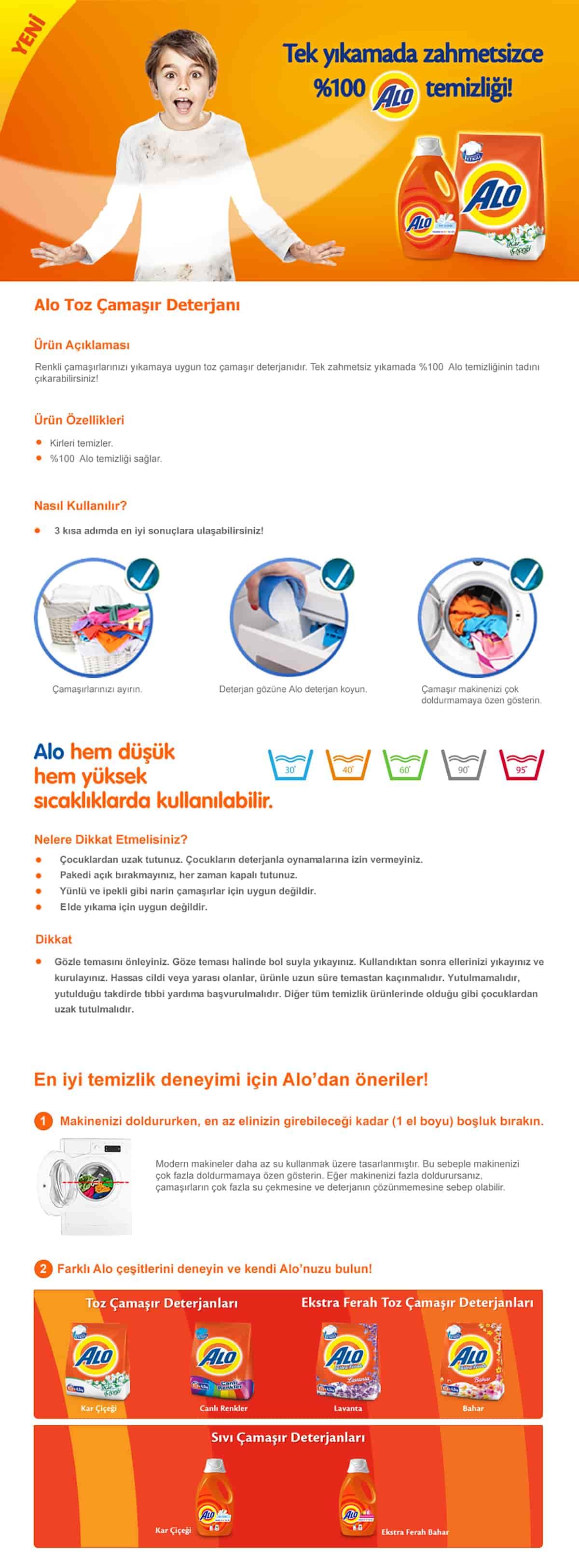 Alo Toz Çamaşır Deterjanı Canlı Renkler