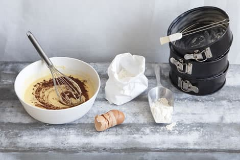 Chocolate cake birthday ingredients