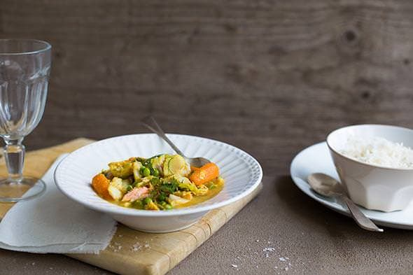 Curried coconut and lemongrass fish stew