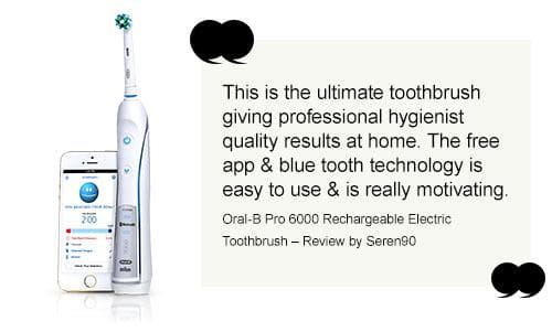 This is the ultimate toothbrush giving professional hygienist quality results at home. The free app & blue tooth technology is easy to use & is really motivating. My brushing has definitely improved!